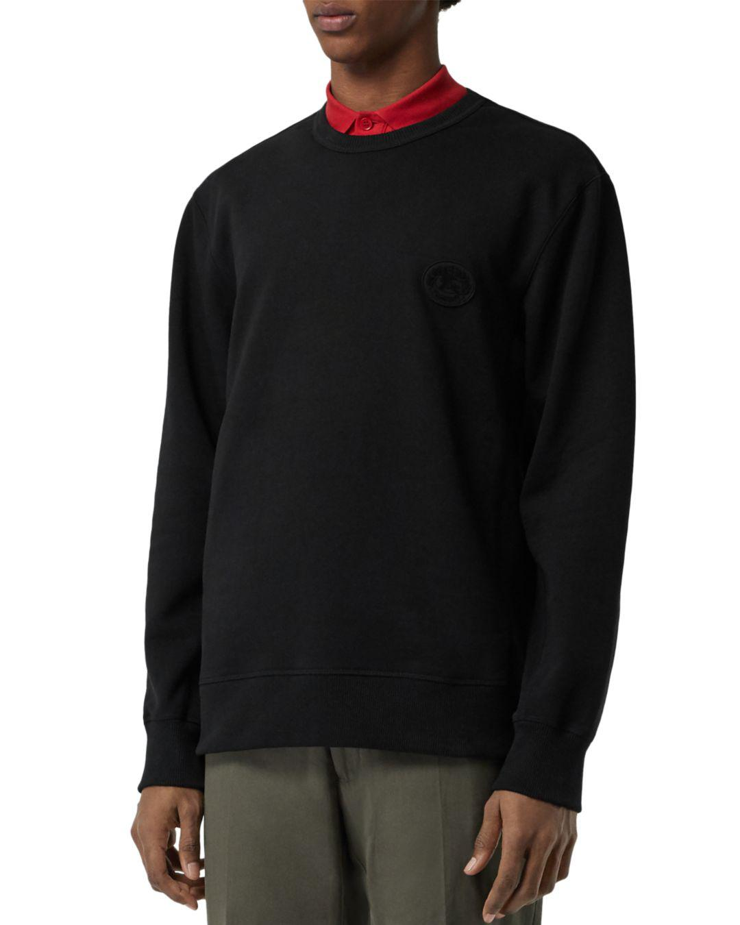 b2141306a803 Lyst - Burberry Jayford Embroidered Logo Sweatshirt in Black for Men