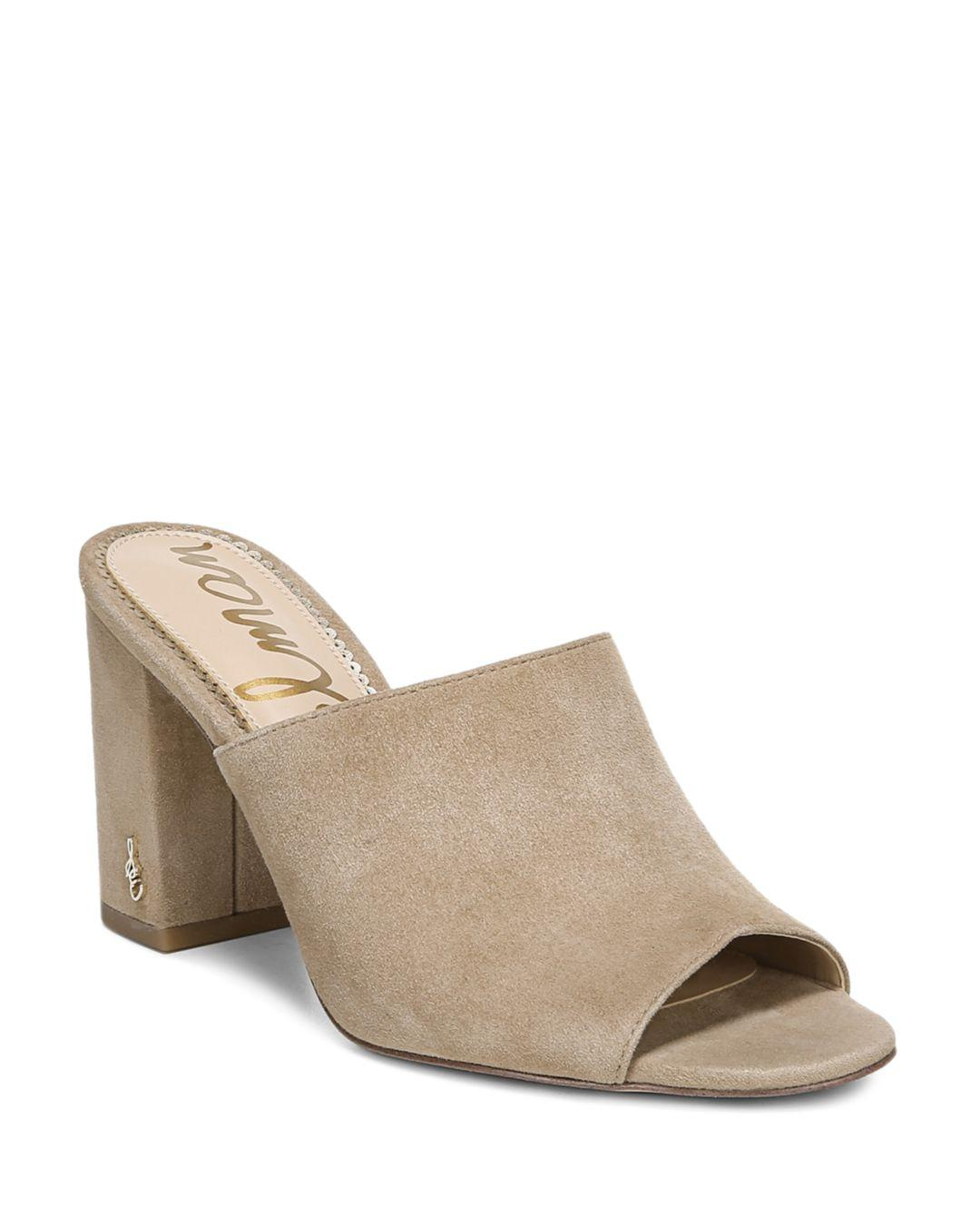 594a57629bd05 Lyst - Sam Edelman Women's Orlie Open-toe Block-heel Mules in Natural