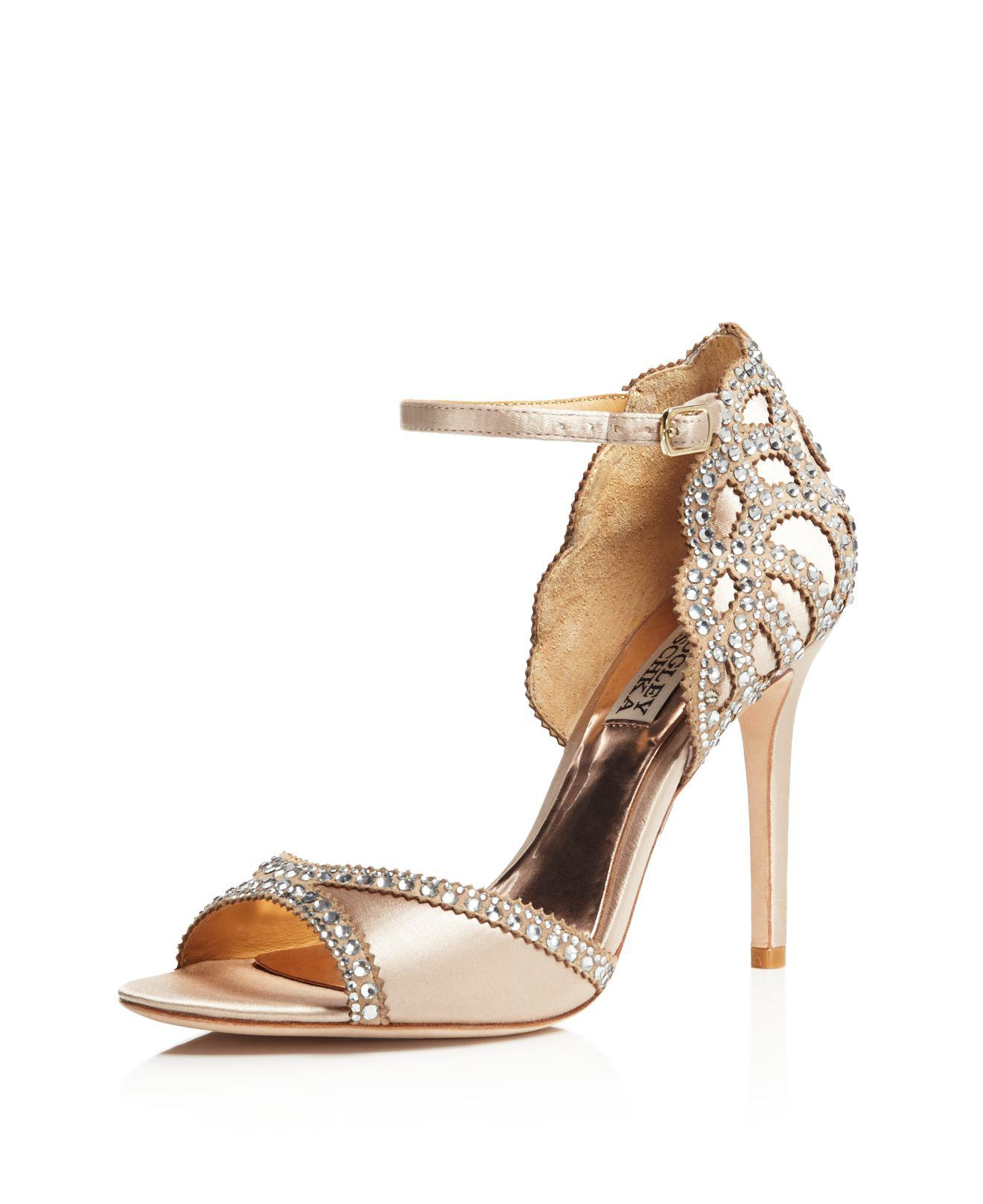 Badgley Mischka Roxy Vintage High-Heel Sandals uNEfEXVzig