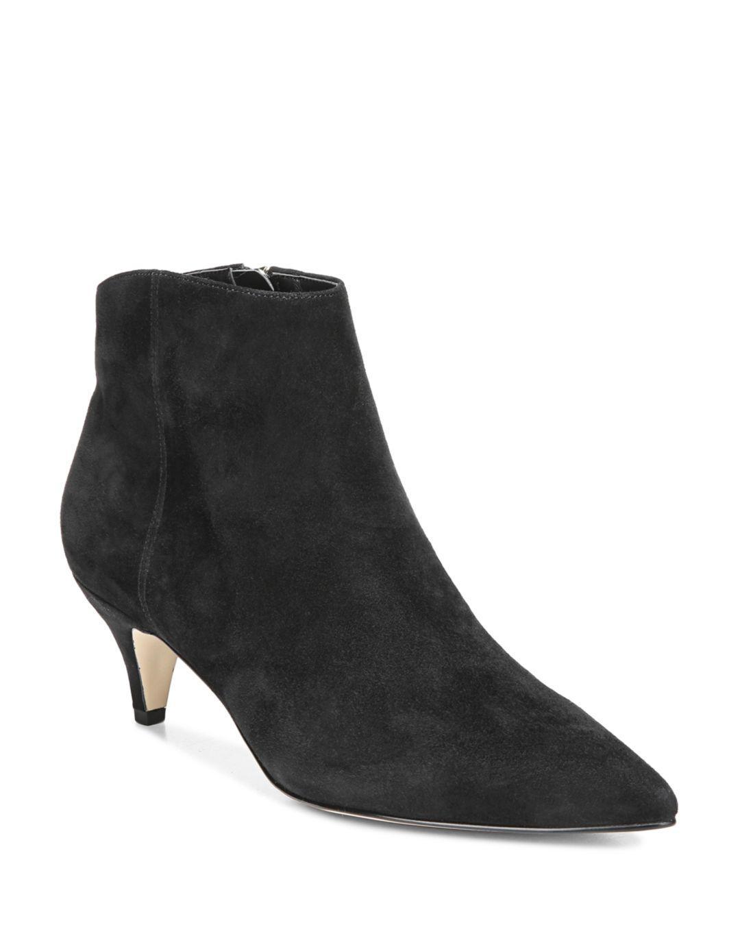 Sam Edelman Women s Kinzey Kitten-heel Booties in Black - Lyst b5da3f074