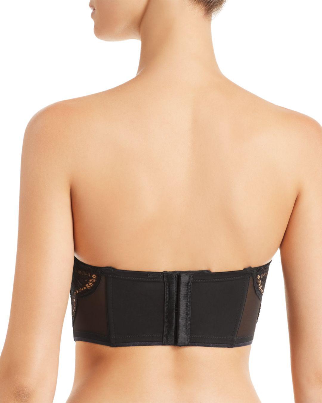 73fbc6b579475 Lyst - Calvin Klein Ck Black Crackled Lace Lightly Lined Strapless Bra in  Black