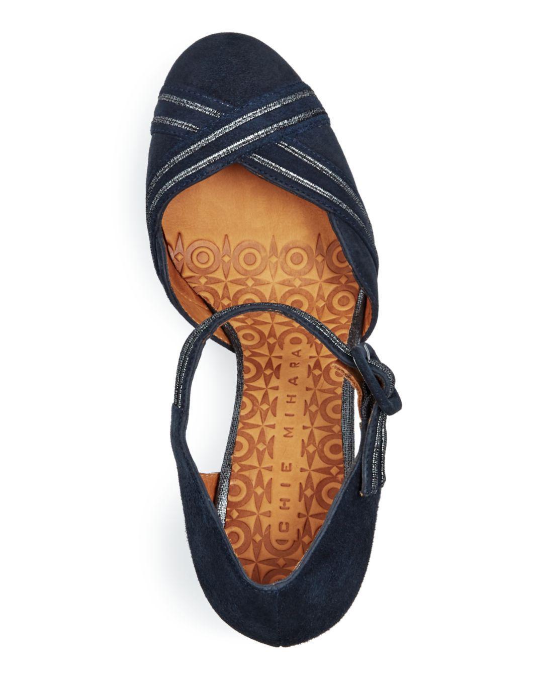 9f703d7415a Chie Mihara - Gray Women s Kilo Suede Block-heel Pumps - Lyst. View  fullscreen