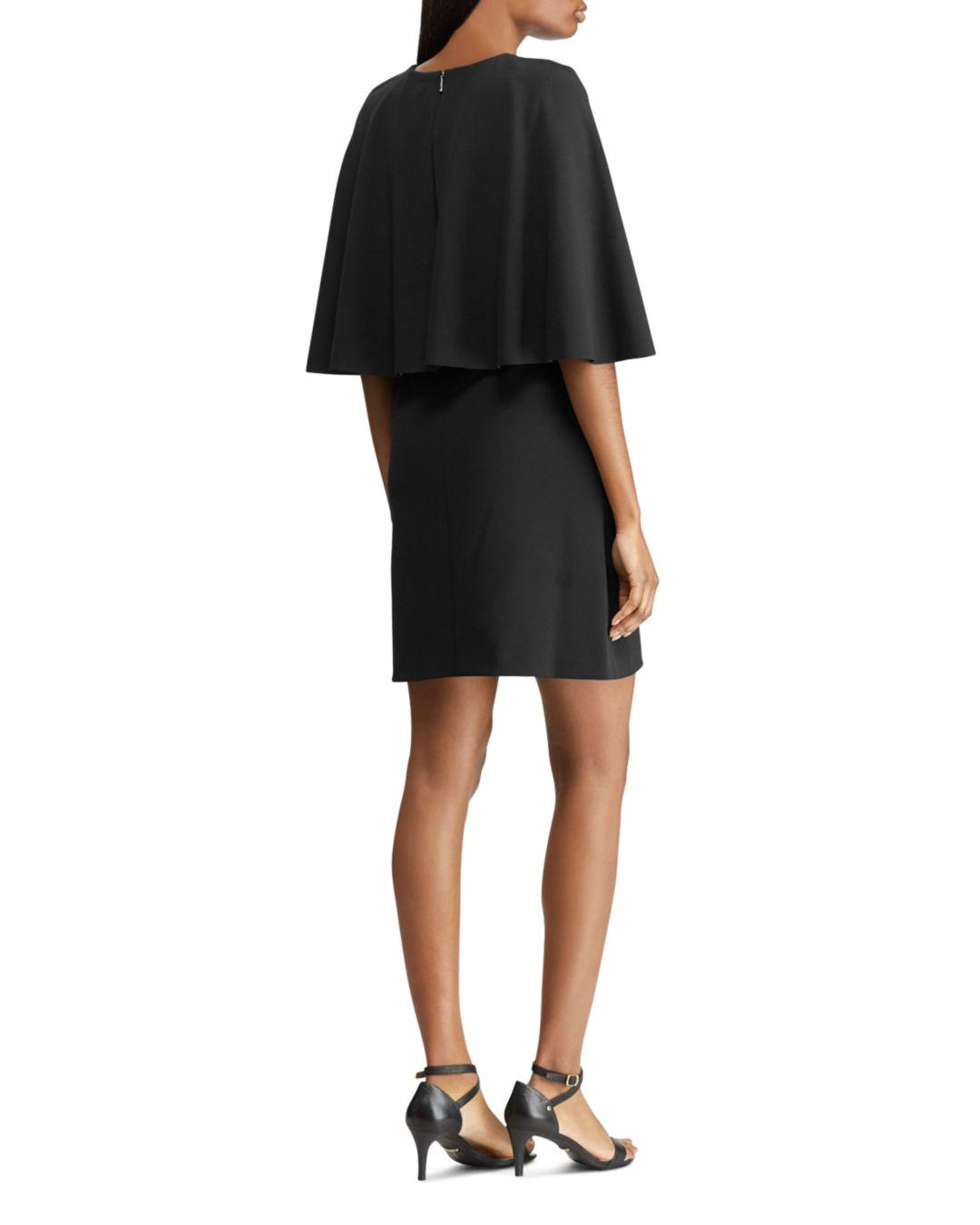 05461841ebb4 Lyst - Ralph Lauren Lauren Cape Overlay Dress in Black