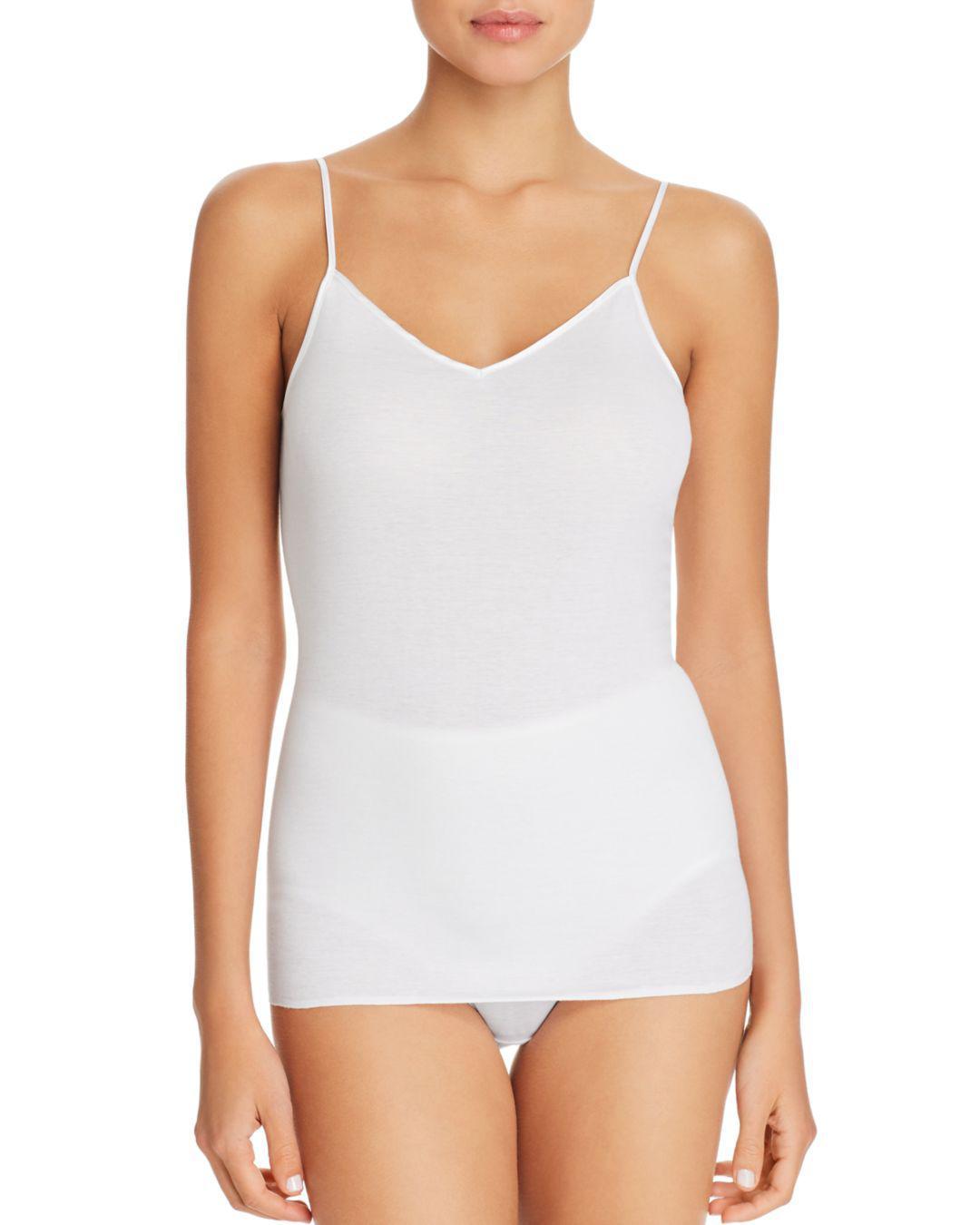 d0f5c82563b Lyst - Hanro Cotton Seamless V-neck Cami in White