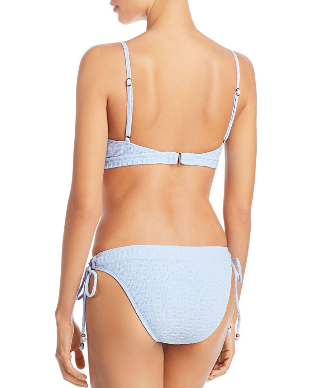 cc78daae45d10 Lyst - Lucky Brand Shoreline Chic Hoop Hipster Bikini Bottom in Blue