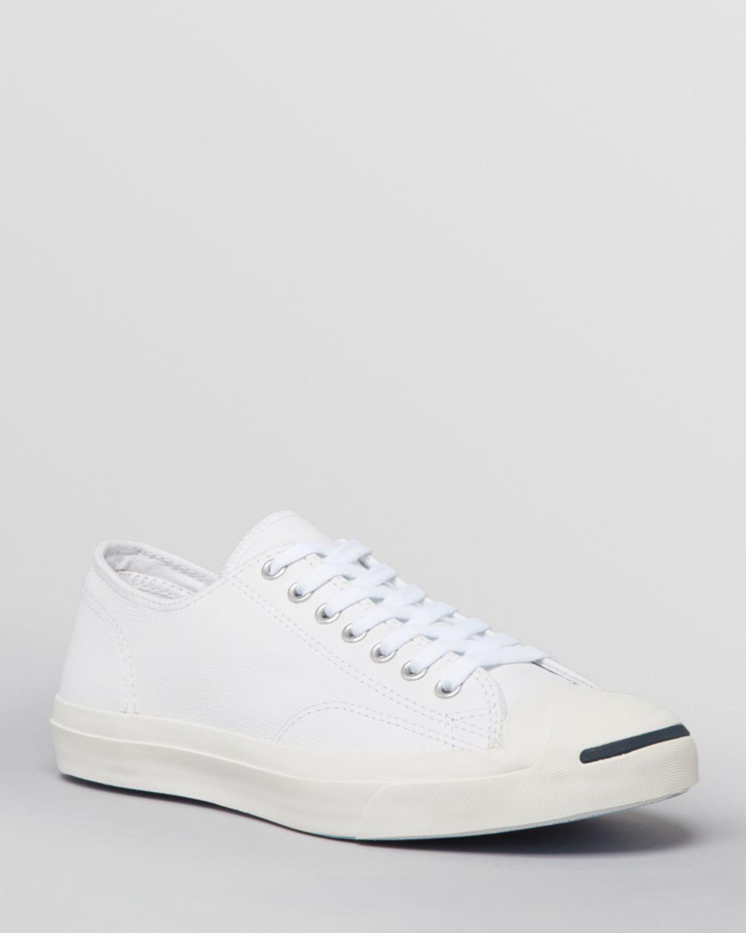 027d82c446f5ee Lyst - Converse Men s Jack Purcell Leather Lace Up Sneakers in White ...