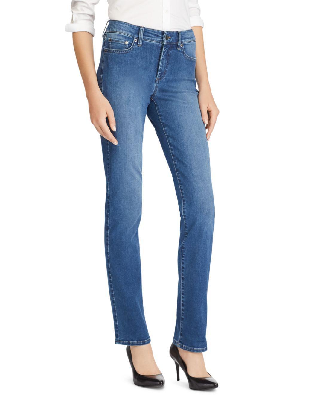 4b87ad8bebed4 Lyst - Ralph Lauren Premier Straight-leg Jeans In Harbor Wash in Blue