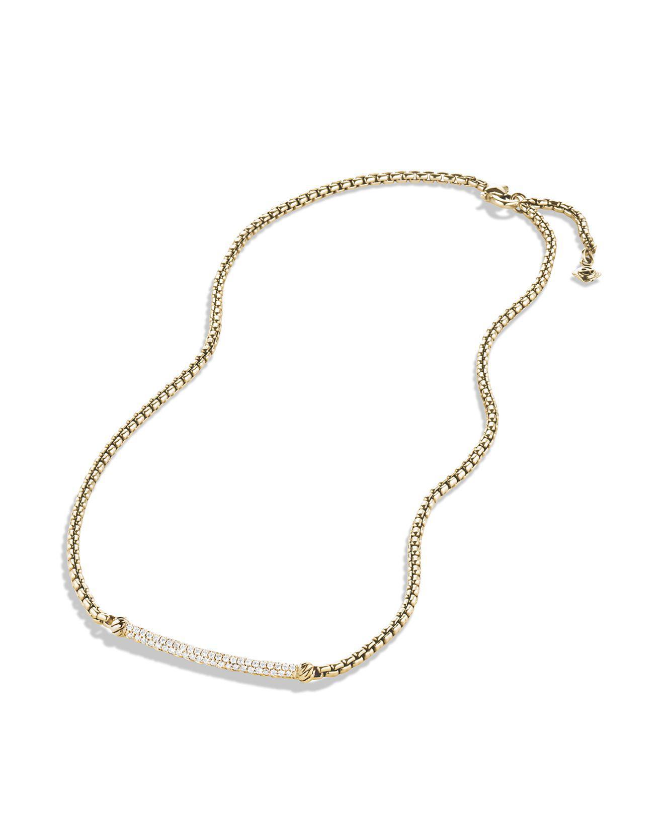 Lyst David Yurman Petite Pav Metro Chain Necklace With Diamonds