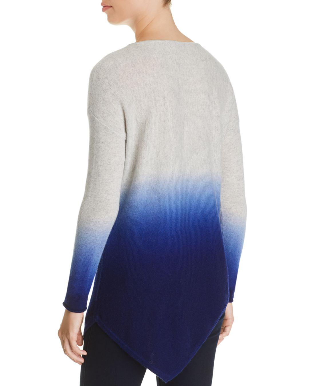Lyst - C By Bloomingdale s Asymmetric Dip-dye Cashmere Sweater in Blue 43218a0c7