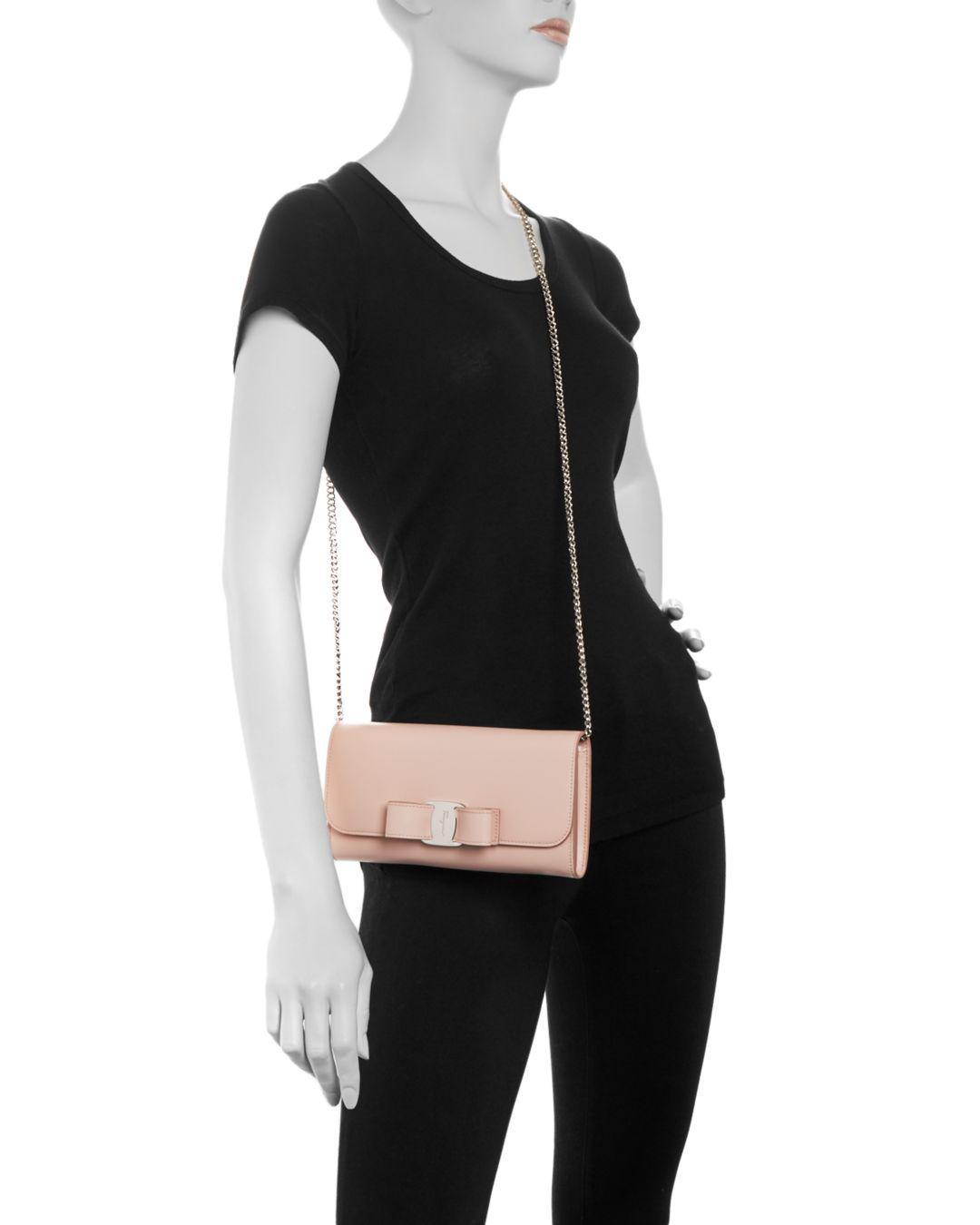 Lyst - Ferragamo Oversized Vara Bow Mini Bag in Pink 6e132d55f363a