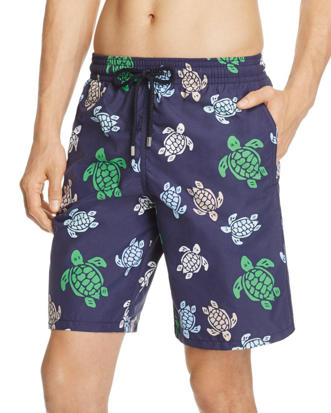 4c097b55ac Vilebrequin Okua Multicolored Turtle-print Swim Trunks in Blue for ...