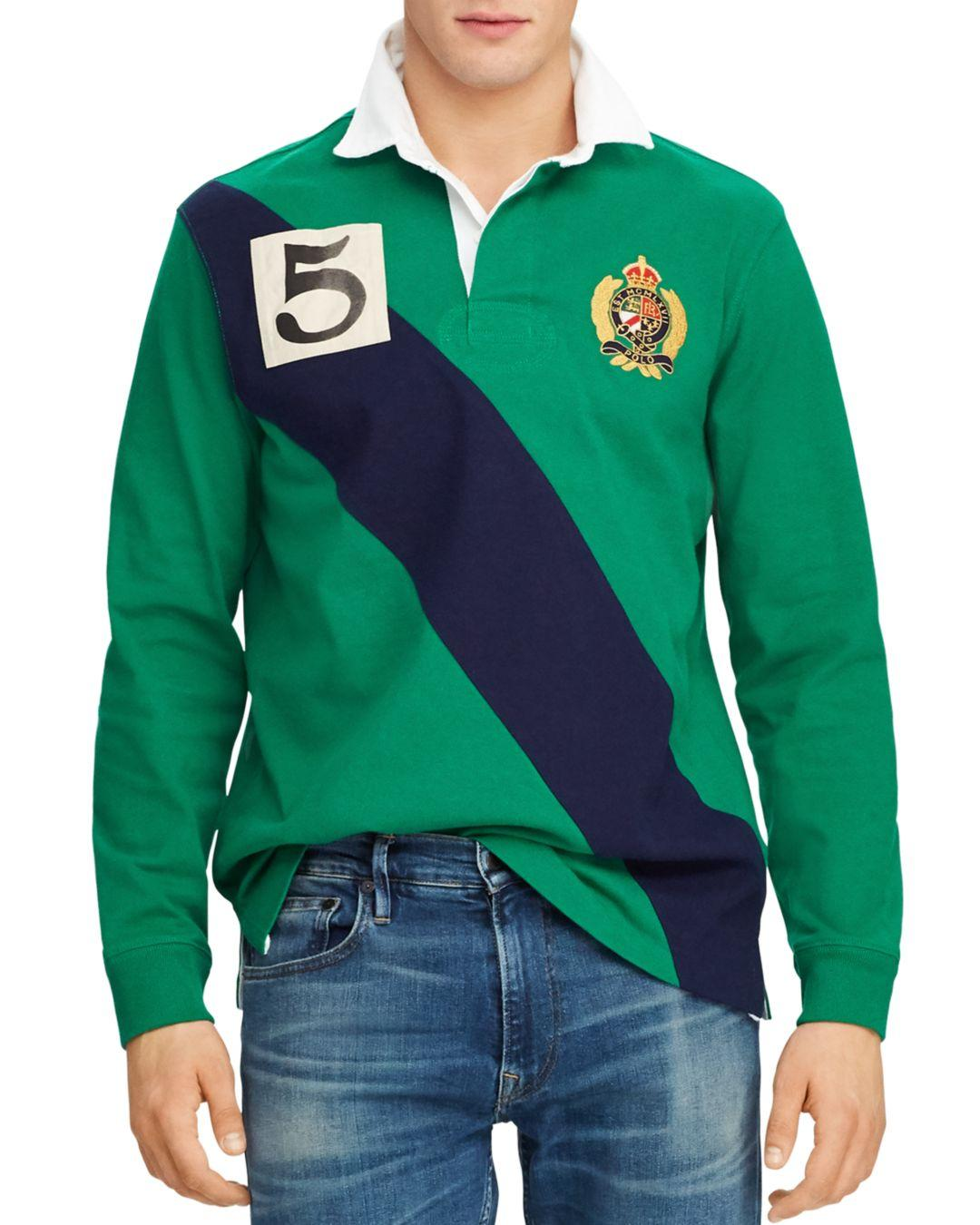 25af78ae82f Lyst - Polo Ralph Lauren Long-sleeve Classic Fit Knit Rugby Shirt in ...