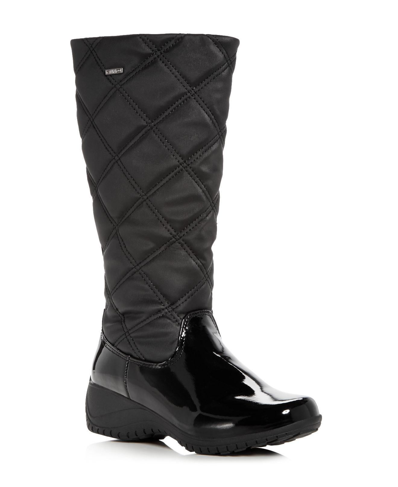 7eb14e8257dee Khombu Women's Addison Waterproof Cold-weather Wedge Boots in Black ...