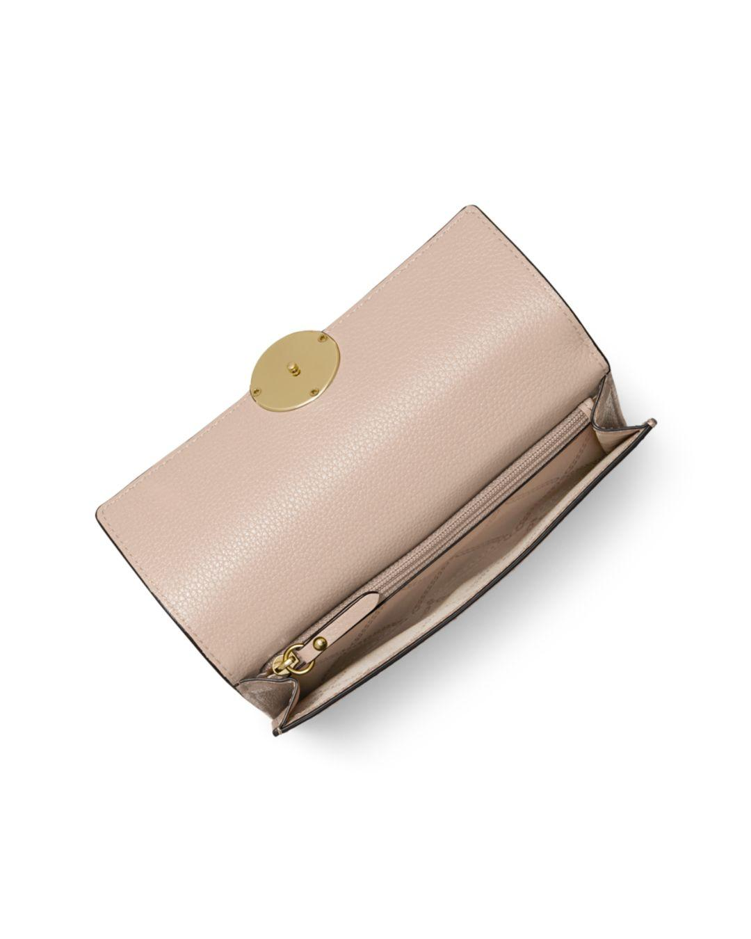 b8c4ed2d1418 Lyst - MICHAEL Michael Kors Large Lillie Carry-all Leather Wallet in Pink