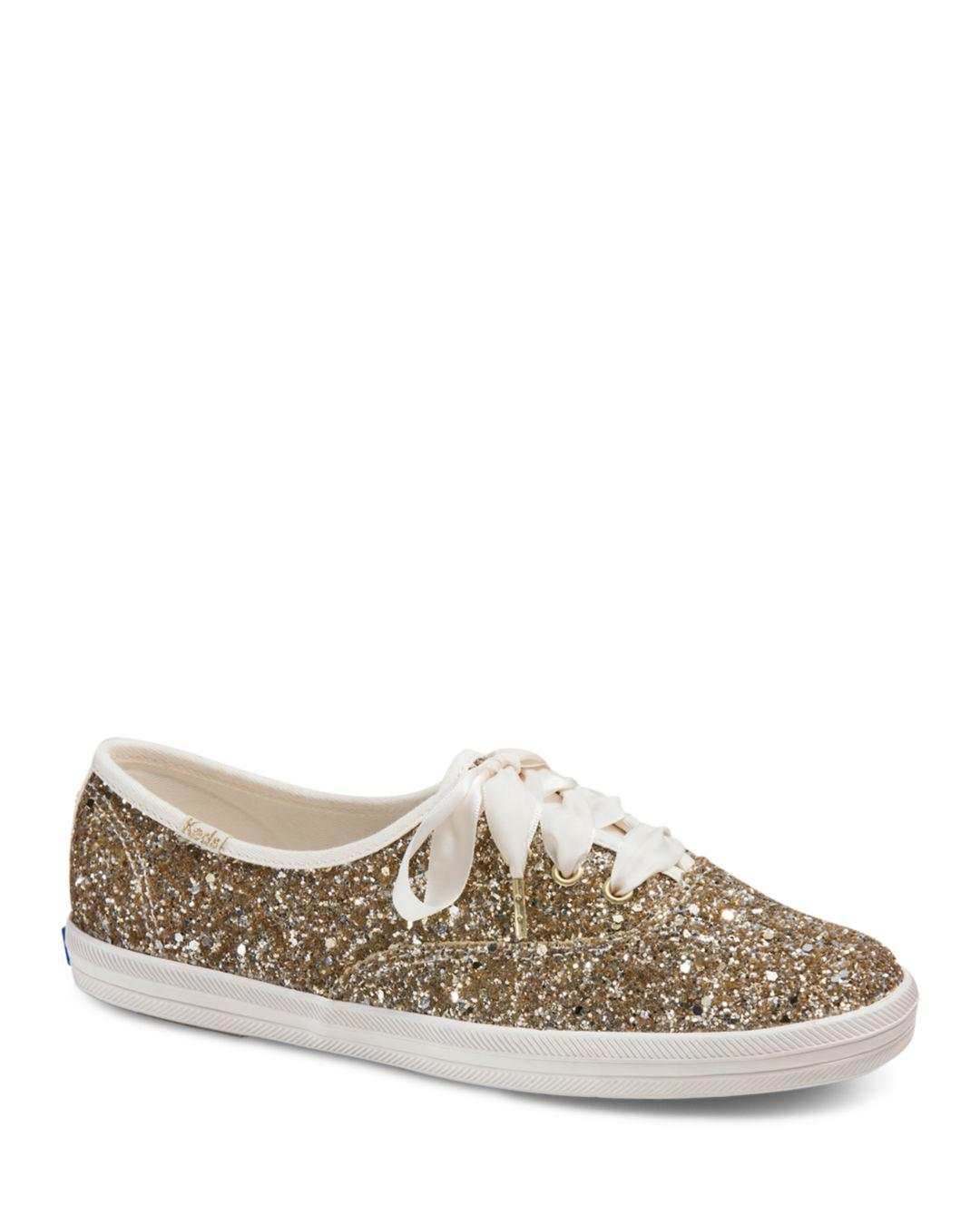 65fb5705b3 Lyst - Keds X Kate Spade New York Women s Glitter Lace Up Sneakers ...
