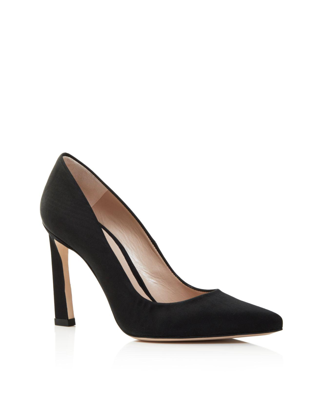 Stuart Weitzman Women's Chicster Metallic Lame High-Heel Pumps byBvSYm
