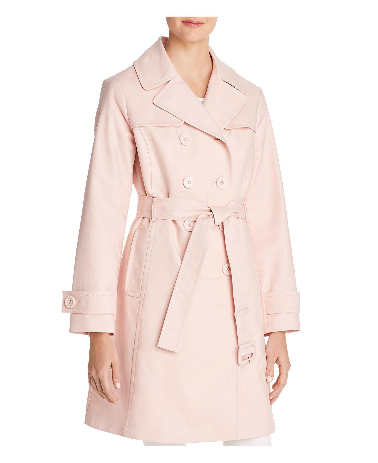 14acf2fc01cc Lyst - Kate Spade Double-breasted Bow Back Trench Coat in Pink