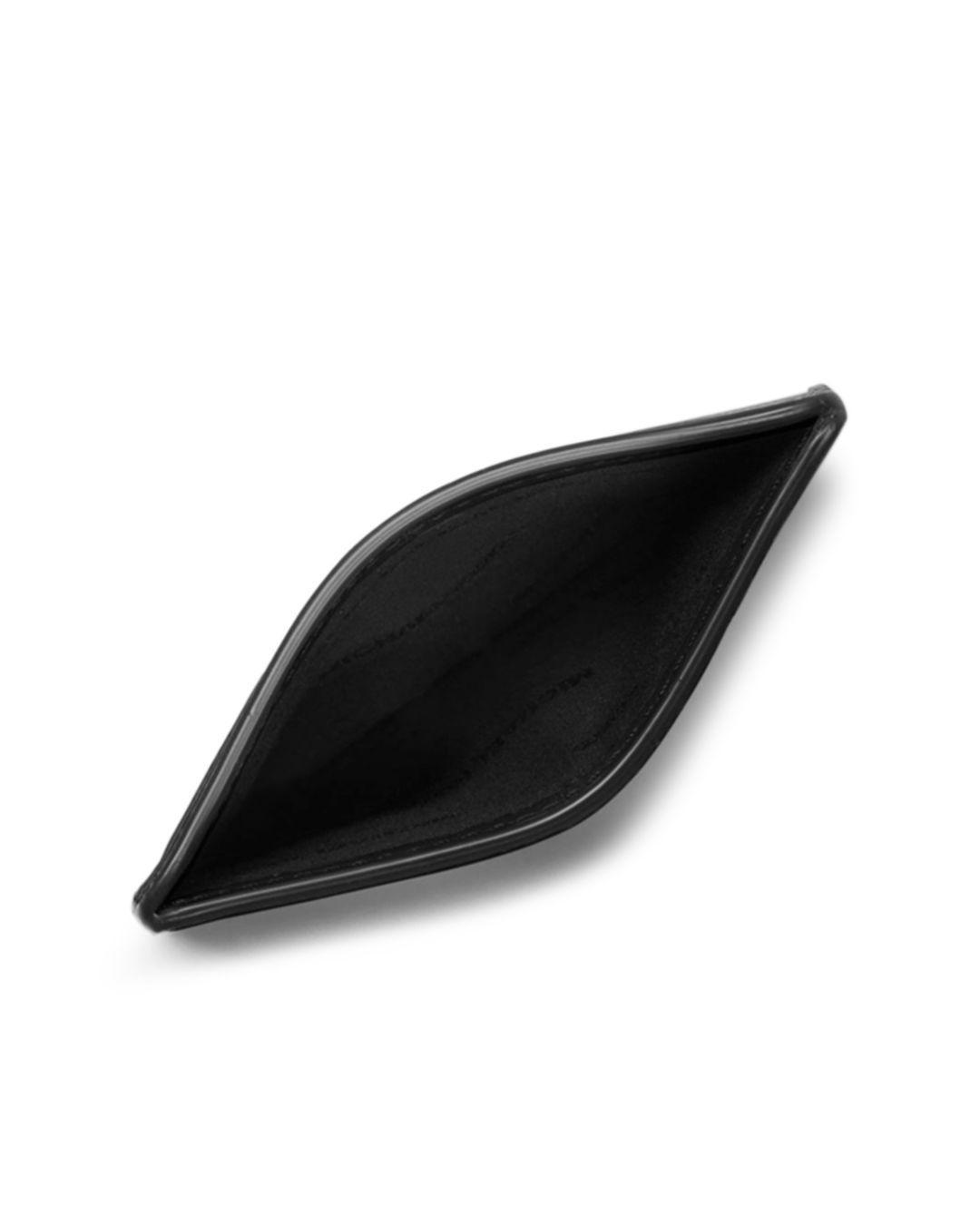 b4c40bbc3ab1 Michael Kors Harrison Cross Grain Leather Card Case in Black for Men - Lyst