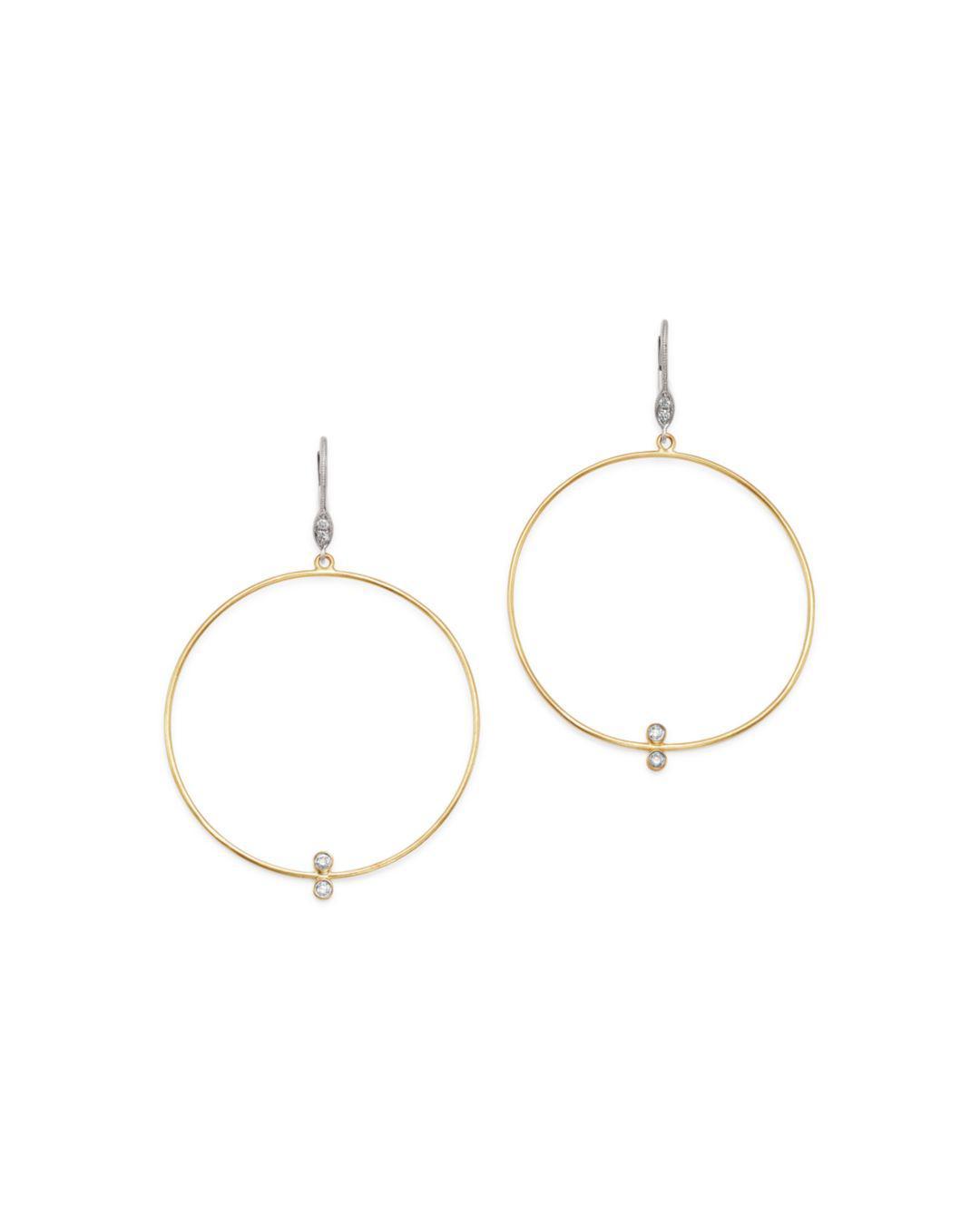 d1d22686e Meira T. Women's Metallic 14k White & Yellow Gold Open Circle Diamond Drop  Earrings