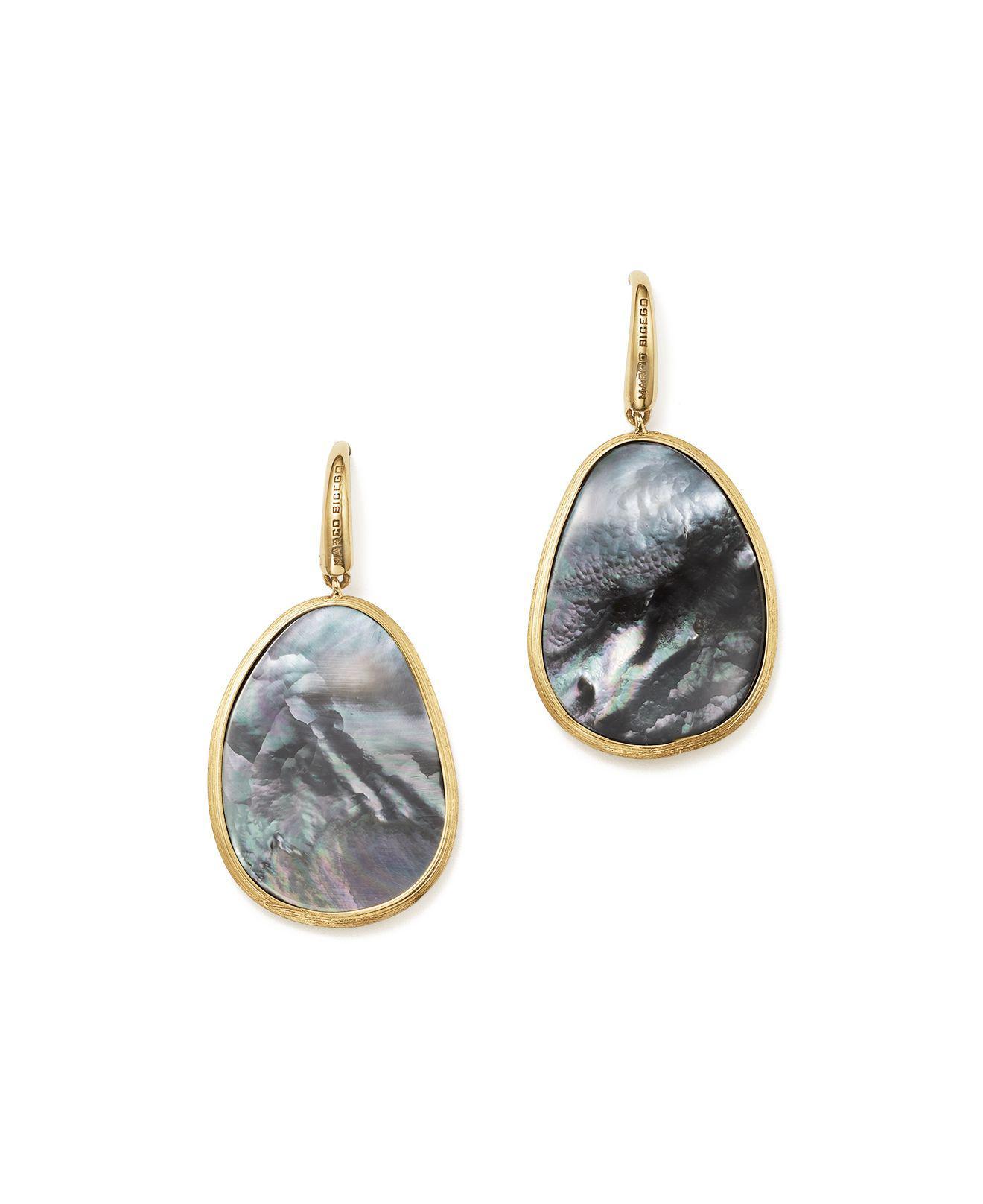 Marco Bicego 18K Lunaria Triple-Drop Earrings with Black Mother-of-Pearl & Diamond kheInxUL