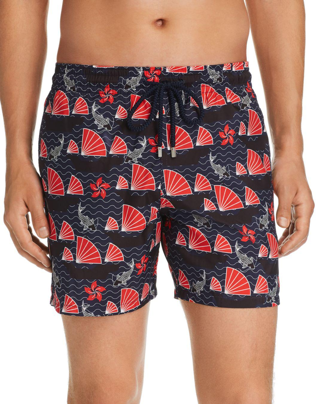32f90ded374b2 Lyst - Vilebrequin Mahina Boat & Koi-print Swim Shorts in Blue for Men