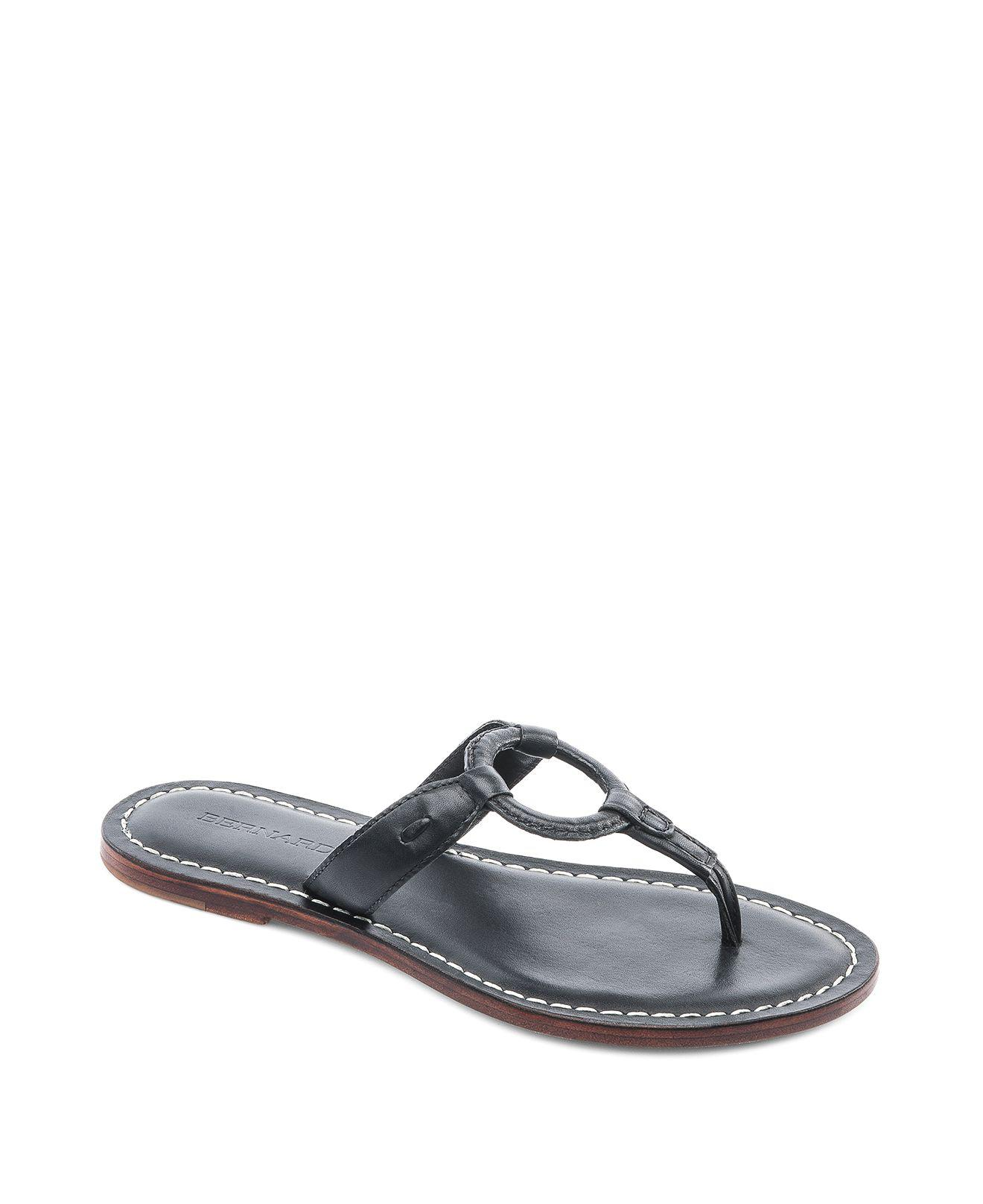 0e4a4bab17a Lyst - Bernardo Matrix Thong Sandals in Black