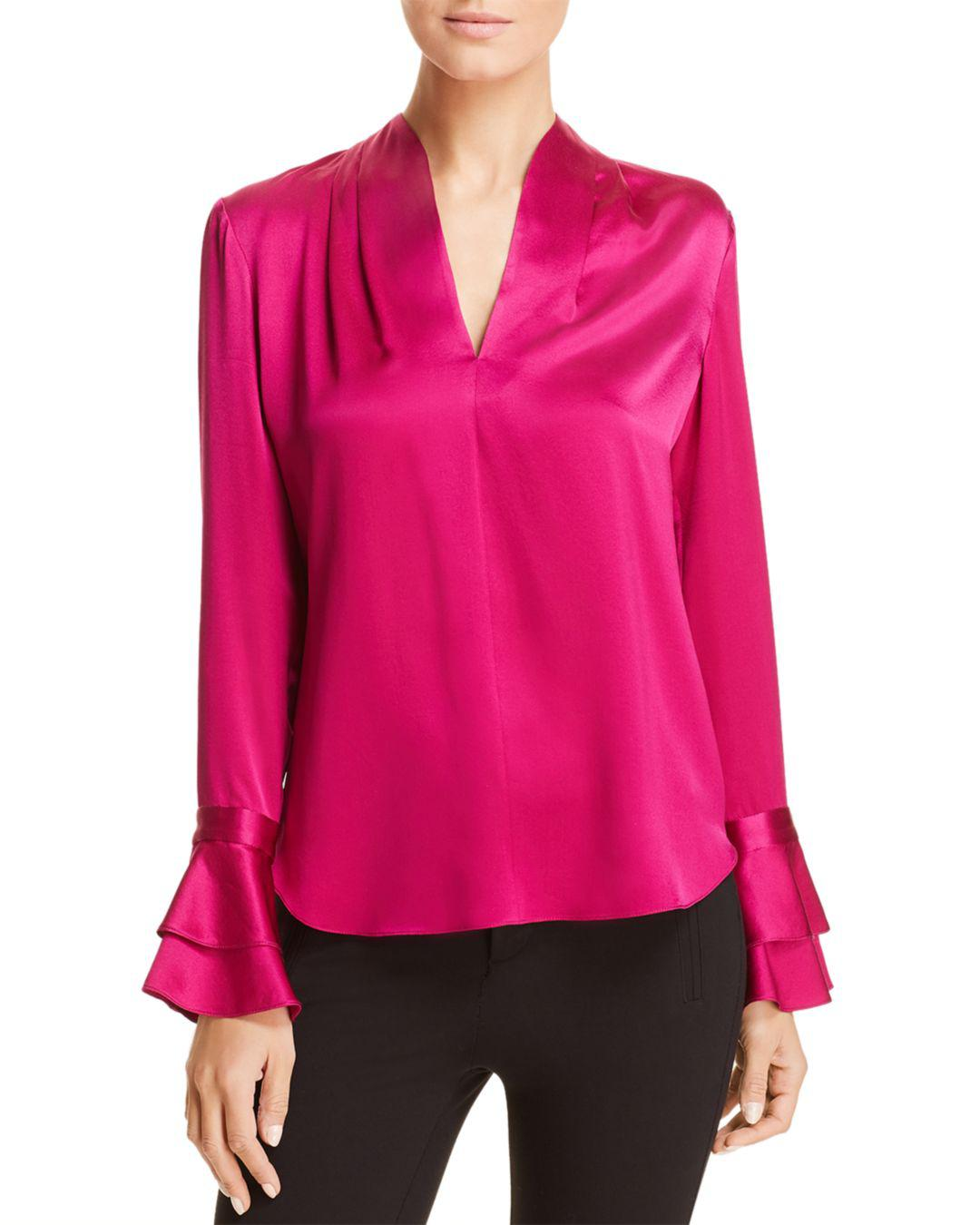 f451d377e959 Elie Tahari Judith Silk Blouse in Pink - Lyst