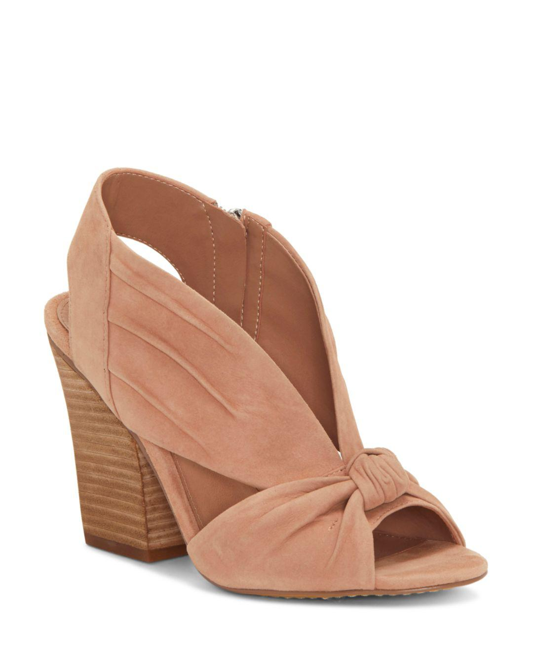 be197748b19 Lyst - Vince Camuto Women s Kerra Knotted Suede High-heel Slingback ...