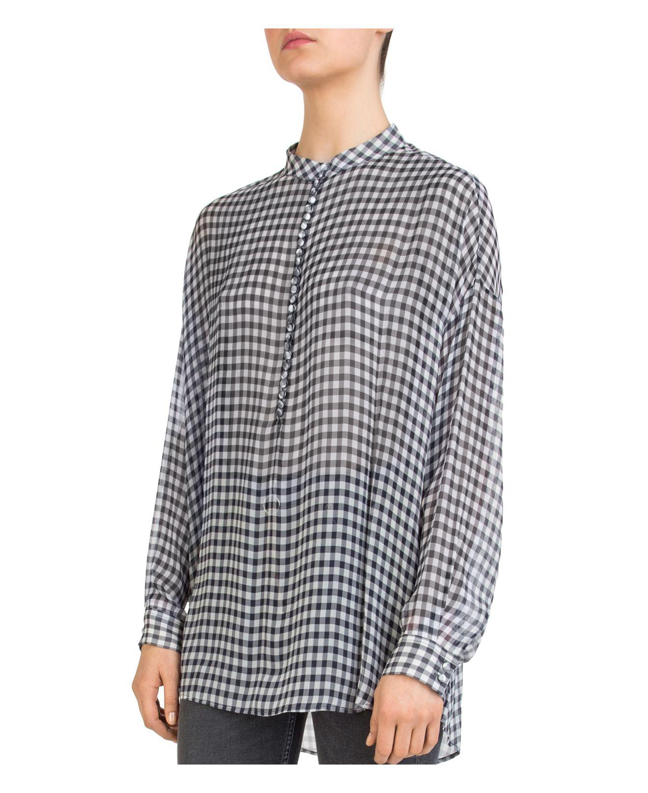 The Kooples Vichy Gingham High/Low Top Tg15yj5tZ