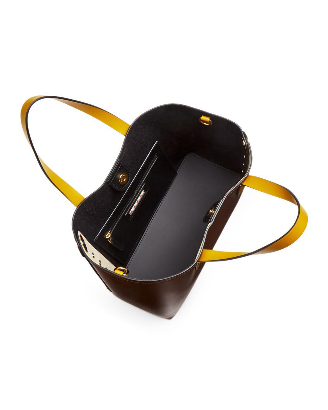 e023c411ea0e Marni - Multicolor Punch Museo Medium Leather Tote - Lyst. View fullscreen
