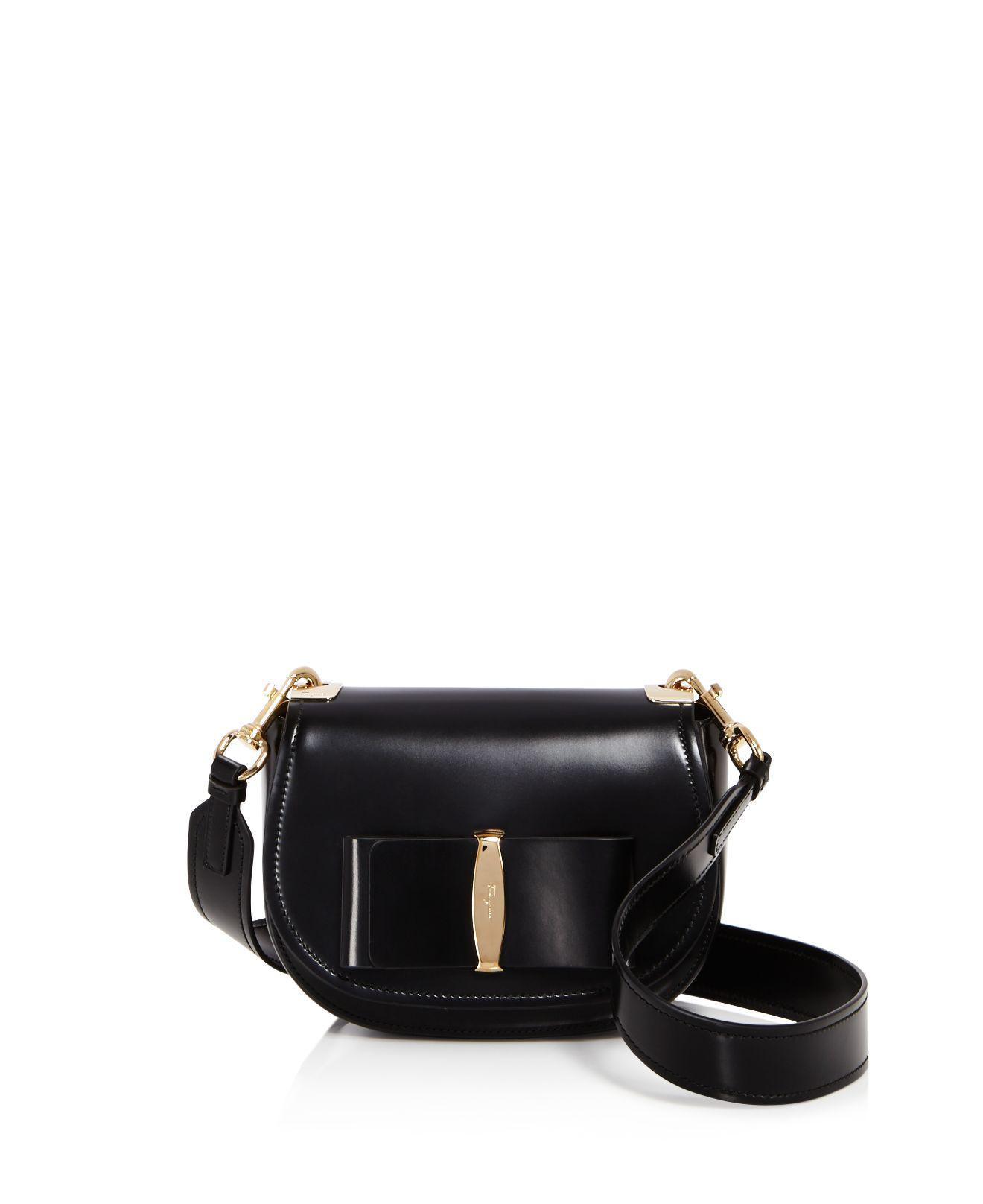 Ferragamo Anna Saddle Bag in Black - Lyst 78ecc65c4006c