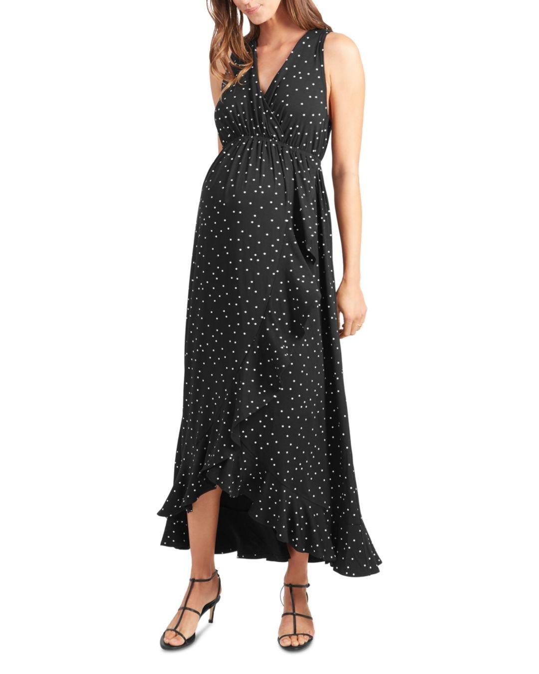 c7e5ea016f4c Lyst - Ingrid & Isabel Maternity Racerback Ruffle Maxi Dress in Black
