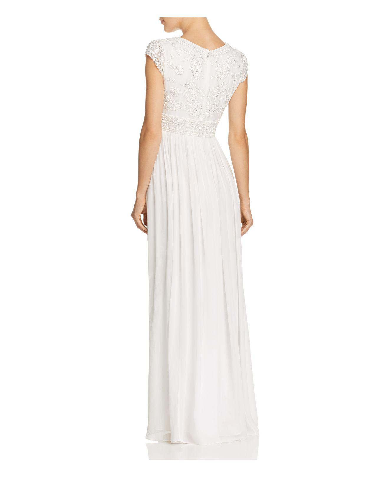 Lyst - French Connection Palmero Embellished Wedding Dress in White