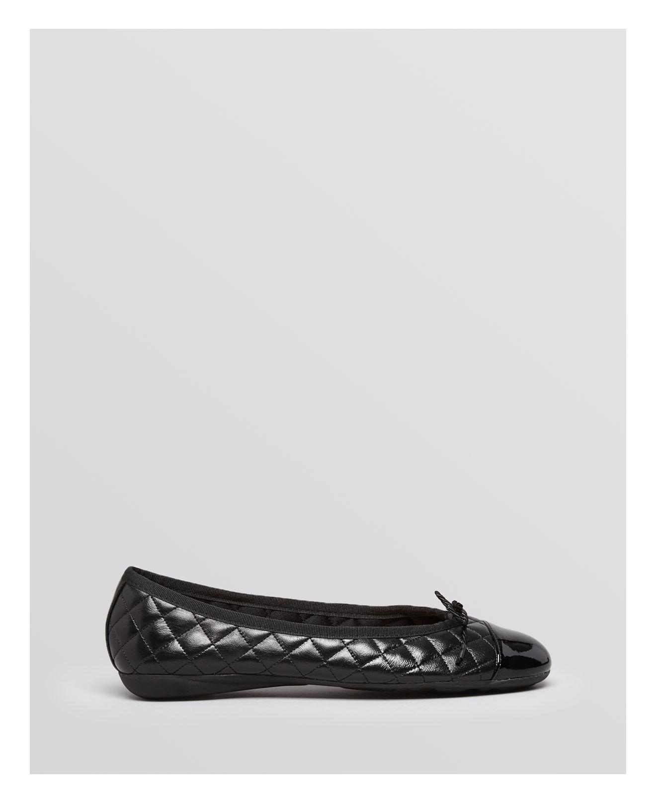 Lyst - Paul Mayer Best Quilted Leather Patent Cap Toe ...