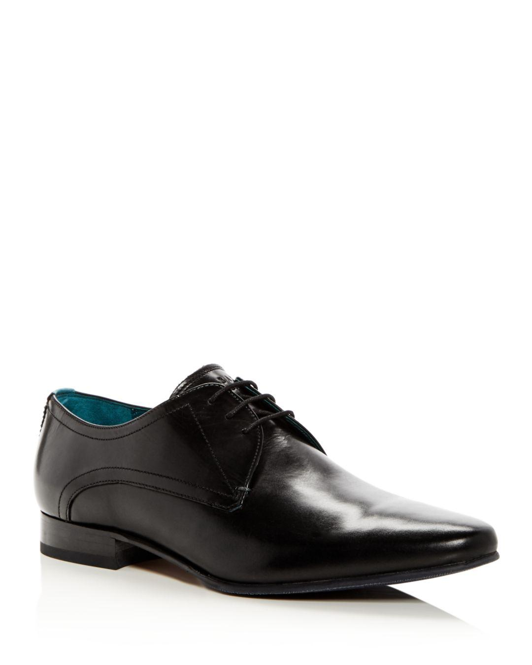 e8b29113ed6a49 Lyst - Ted Baker Men s Bhartli Leather Plain Toe Oxfords in Black ...