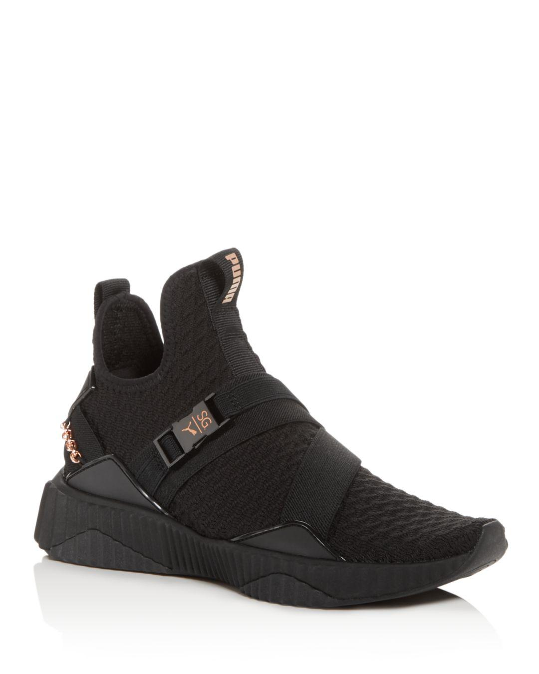 Lyst - PUMA Women s X Sg Defy Knit Mid-top Sneakers in Black f3dcfc6e5