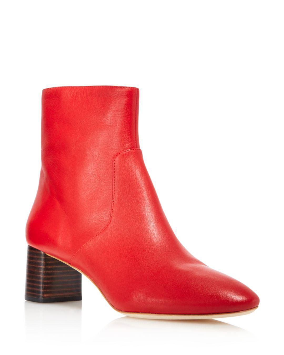 9189adbf18b4 Lyst - Loeffler Randall Women s Gema Pointed Toe Leather Booties in Red