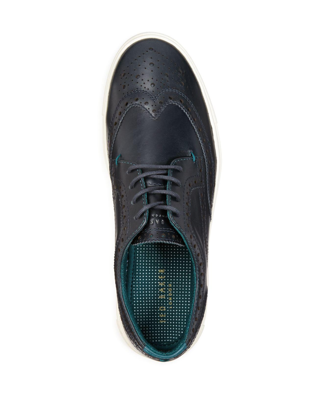 a72f2a9665fcd6 Lyst - Ted Baker Rachet Sneakers in Blue for Men