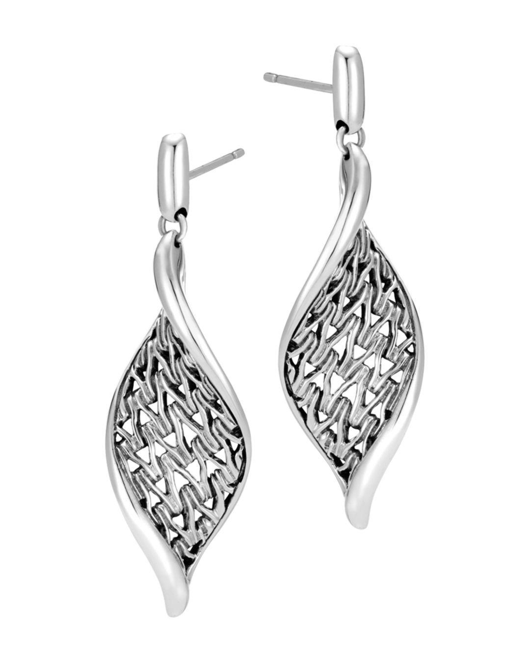 11a02419e John Hardy. Women's Metallic Sterling Silver Classic Chain Wave Drop  Earrings