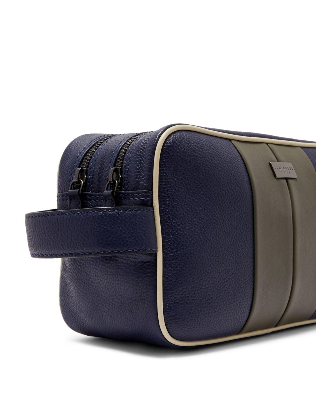 89f2fb388 Lyst - Ted Baker Marsha Striped Toiletry Bag in Blue for Men