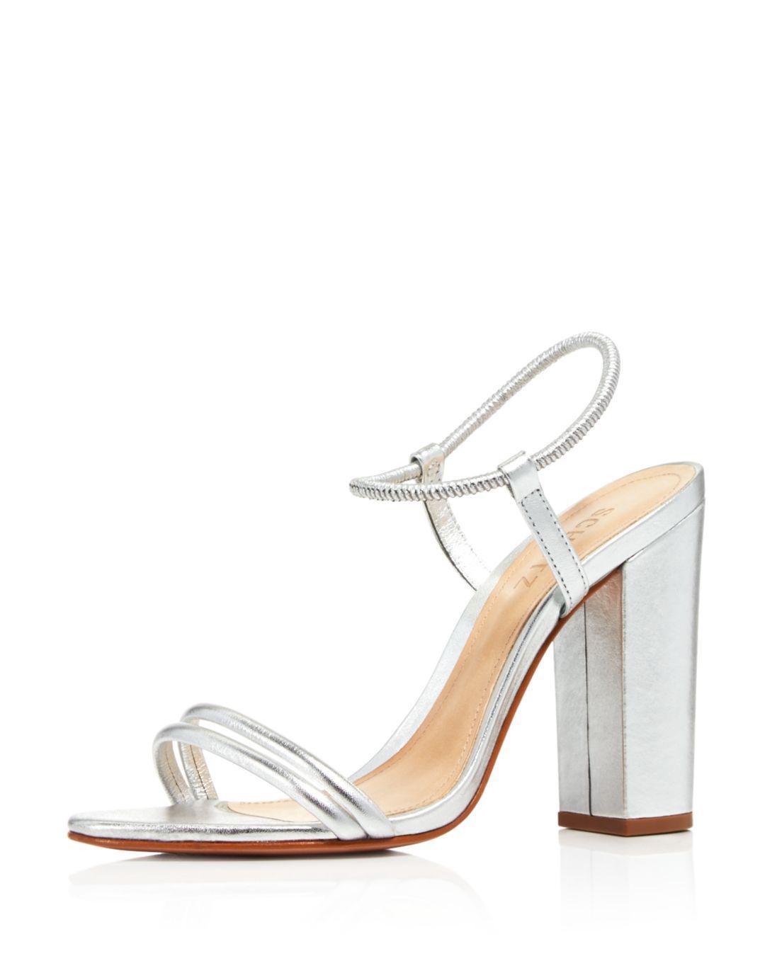 cdc5a5933370 Lyst - Schutz Women s Pincesa Metallic High-heel Sandals in Metallic