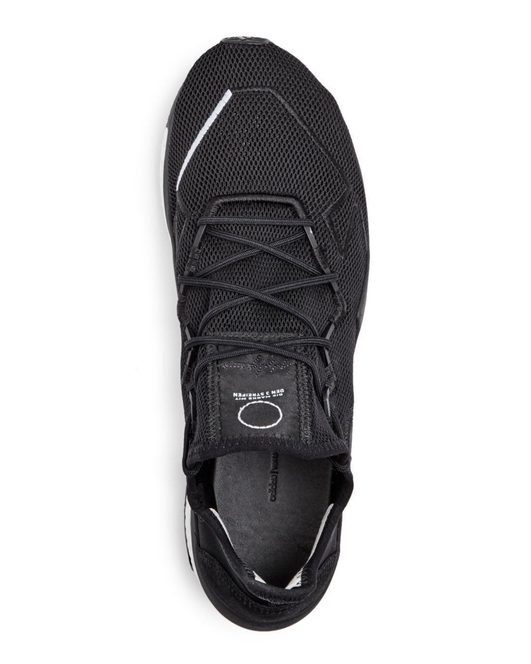 baaaf054b58 Y-3 Men s Adizero Runner Lace Up Sneakers in Black for Men - Lyst