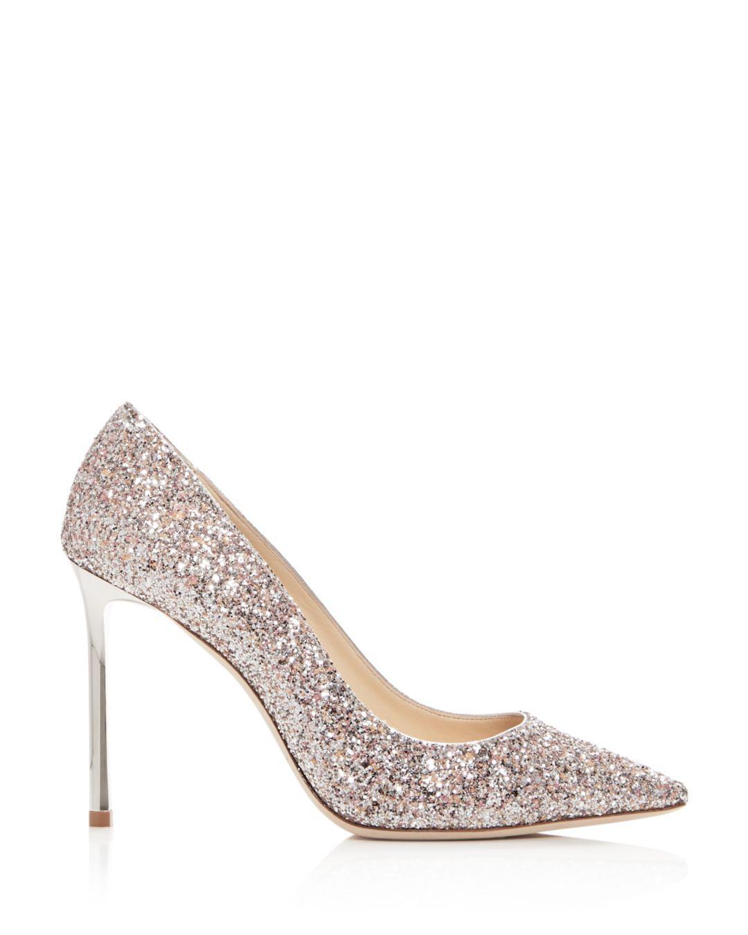 e1849d0c5cfe Lyst - Jimmy Choo Women s Romy 100 Glitter Pointed-toe Pumps