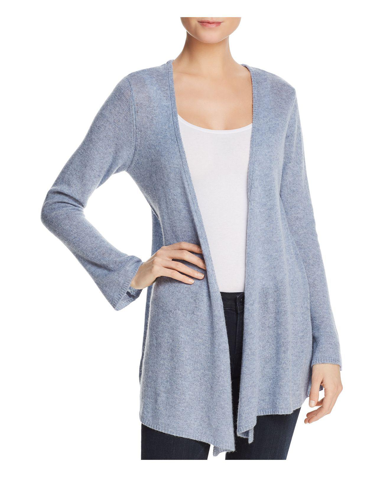 Minnie rose Cashmere Duster Cardigan in Blue | Lyst