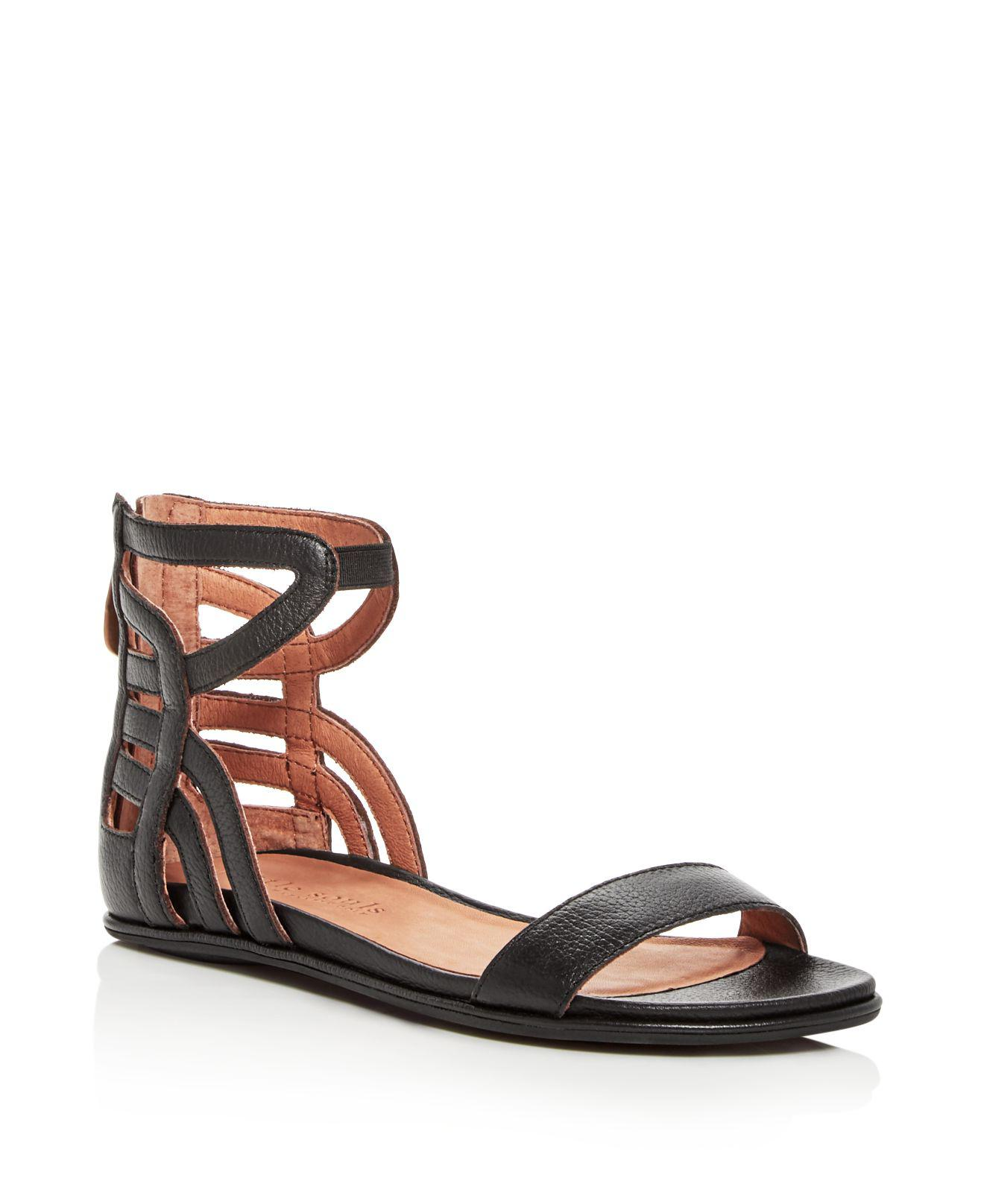 Kenneth Cole Gentle Souls Women's Larisa Snake Embossed Leather Ankle Strap Demi Wedge Sandals 0Tkc1