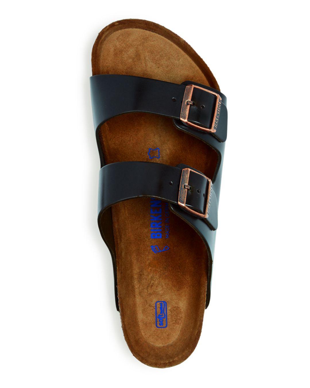 db201e210ff9 Lyst - Birkenstock Men s Arizona Leather Slide Sandals in Brown for Men