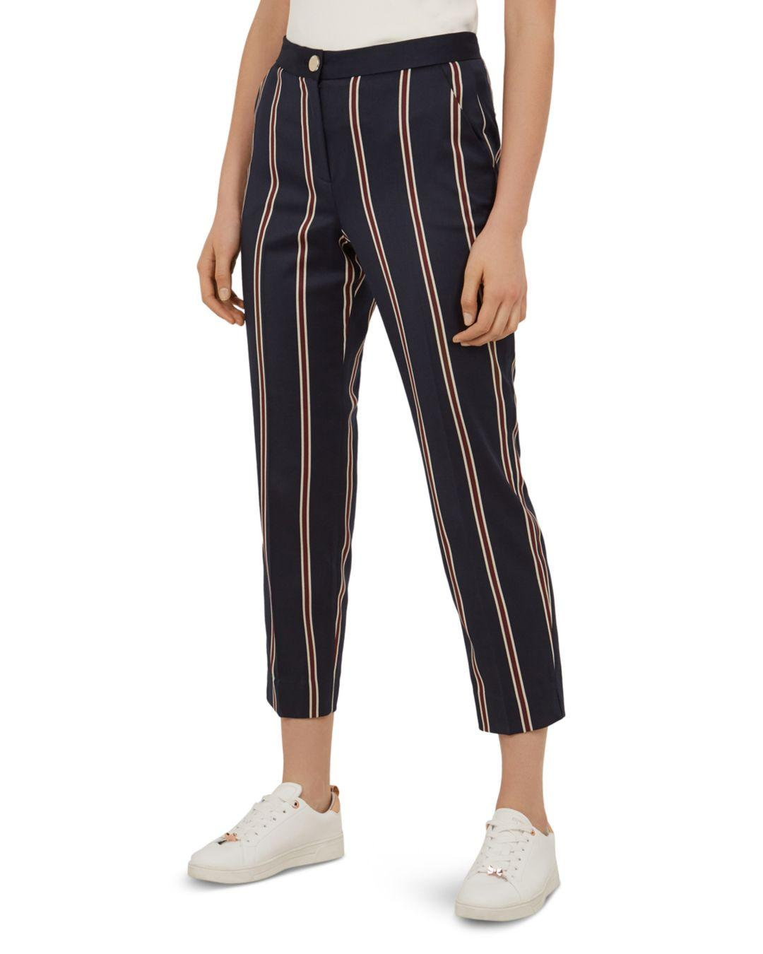 f7fa484ad533 Lyst - Ted Baker Haryeet Striped Pants in Blue