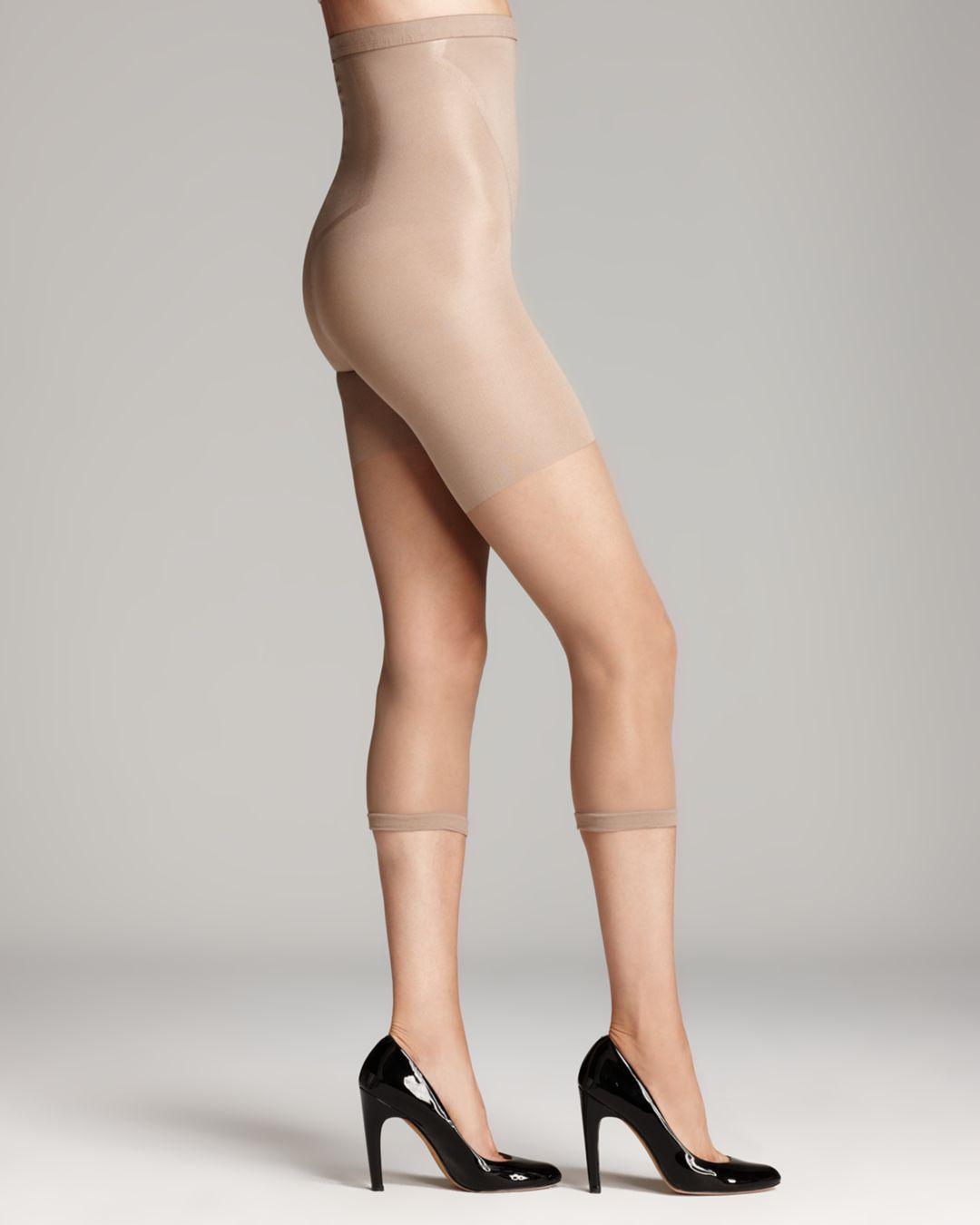 1ee19a7de608b Spanx In-power Line Super Footless Shaper Capri Tights in Natural - Lyst