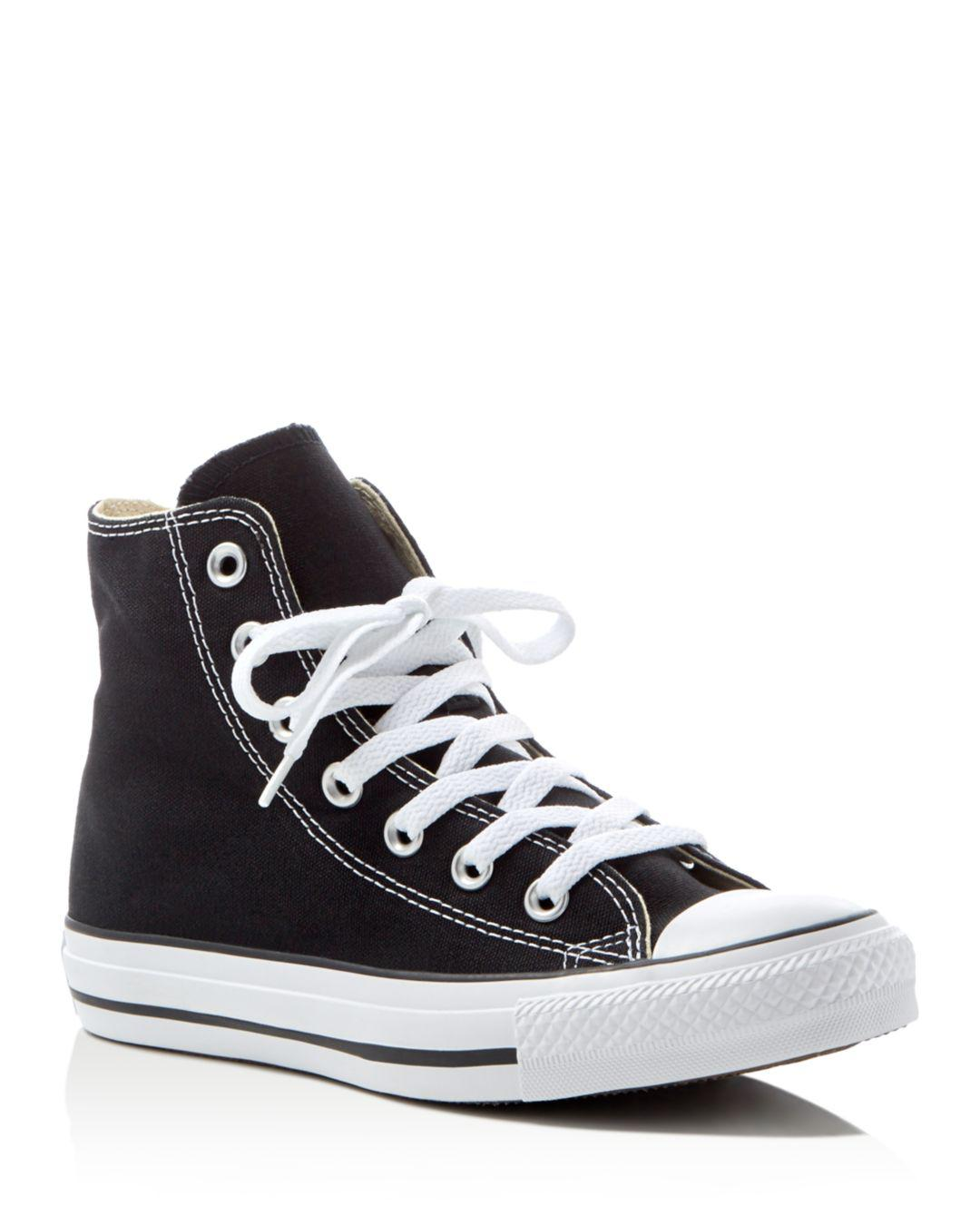 7d347d30a22 Converse Women s Chuck Taylor All Star High Top Sneakers in Black - Lyst