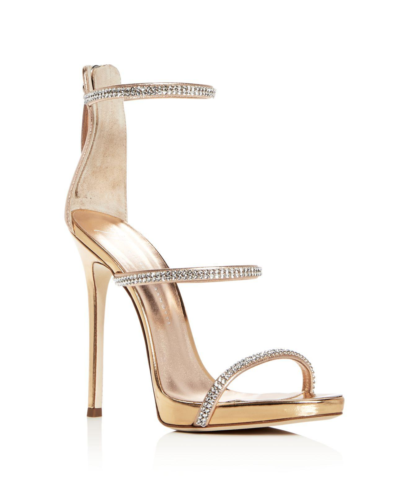 embellished strappy sandals - Metallic Giuseppe Zanotti Discount From China Clearance Online Official Site Shipping Discount Authentic Clearance Low Price Fee Shipping gSsPl1